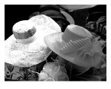 Spring Bonnets In Charcoal Photographic Print by Susan Lipschutz