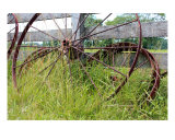 Rusty Wheels III Photographic Print by Kari Mceowen