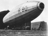 The R80 Airship Being Launched from Its Shed, July 1920 Photographic Print