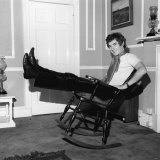 Ian Mckellen Rests at Home Sitting in a Rocking Chair, October 1969 Lmina fotogrfica