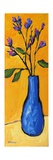 Blue Vase On Yellow Photographic Print by Patty Baker