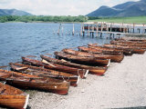 Rowboats on the Derwent Water in Keswick Cumbria Photographic Print