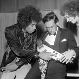 Jimi Hendrix with Jeremy Thorpe at the Royal Festival Hall Back Stage, September 1967 Photographic Print