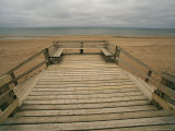 A Boardwalk and Stairways Leading to Cavendish Beach Photographic Print by Michael S. Lewis