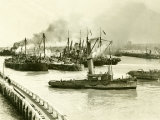 HMS Vindictive Which Attacked the Harbour at Ostend During WWI Being Raised from the Canal, 1920 Photographic Print