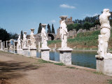 Swimming Pool at Ruins of Hadrian's Villa at Tivoli Near Rome, Italy Photographic Print