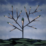 Paint Brush Art Tree Photographic Print by Howard Sokol
