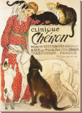 Clinique Cheron, c.1905 Stretched Canvas Print by Théophile Alexandre Steinlen
