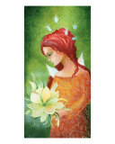 Angel And Bloom Photographic Print by Judita Zidziuniene