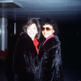 Valerie Holiday and Helen Scott of Pop Group the Three Degrees Fotografisk tryk