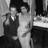 Singer Shirley Bassey and Manager Mike Sullivan in Her Dressing Room at the Chiswick Theatre, 1958 Photographic Print