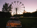 An Abandoned Amusement Park at Twilight Photographic Print by Randy Olson