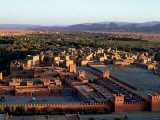 Morocco, General View Overlooking Tinerhir at Sunset, 1970s Photographic Print