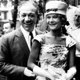 Sid James at Tommy Steele's Wedding with Wife Fotografie-Druck