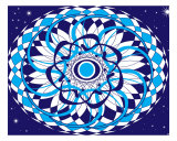 Blue Mandala Photographic Print by Jan Criquelion
