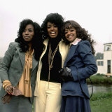 Three Degrees Singing Group at the Radio One Fun Day at Mallory Park Fotografisk tryk