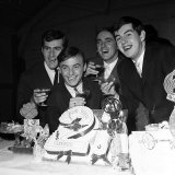 Gerry Marsden Celebrates His 21st Birthday 1963 with His Family at a Hall in Allerton, Liverpool Photographic Print