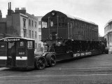 Pickfords Transport a Diesel Electric Locomotive Train Engine to the Festival of Britain Site Photographic Print