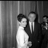 Richard Burton with Wife Elizabeth Taylor, December 1962 Photographic Print
