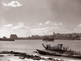 A Fraserburgh Herring Boat Returns to Port Escorted by a Squadron of Sea Gulls, 1935 Photographic Print