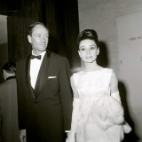 British Film Academy Awards, Mel Ferrer and Audrey Hepburn, Holding a Fur Coat, April 1964 Photographie
