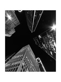 Dallas Up Bw Photographic Print by John Gusky