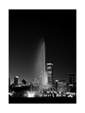 Chicagos Buckingham Fountain, Black & White, Port Photographic Print by Steve Gadomski