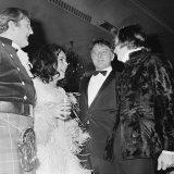 Elizabeth Taylor Joking with Nureyev and Richard Burton, March 1968 Photographic Print