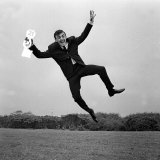 Gerry Marsden Jumps for Joy on His 21st Birthday, 1963 Photographic Print