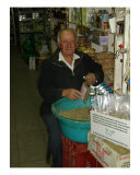 The Spice Man At Heraklion Open-Air Market Photographic Print by Jim Stanfield