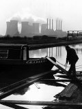 Industrial Scene with Canal and Long Boat, 1971 Photographic Print