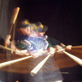 Action Batting Photographic Print by Doug Mazell