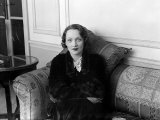 Marlene Dietrich Actress, Portrait Smiling Seated Sitting on Couch Sofa Photographic Print
