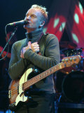 Sting Performing at the Waterfront Hall in Belfast, 2000 Fotografisk tryk