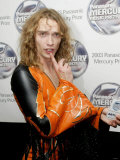 Justin Hawkins Lead Singer with the Darkness, Mercury Music Awards 2003 Fotografie-Druck