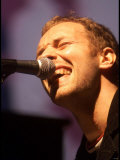Chris Martin of Coldplay, One Big No Anti War Concert, Shepherds Bush Empire in London, March 2003 Fotografická reprodukce