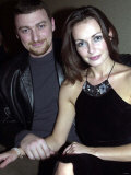 Sharon Corr with Her Boyfriend Gavin Bonner, Opening Night of Shu in Belfast Ireland, October 2000 Fotografie-Druck
