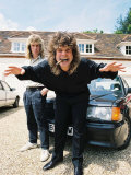 Black Sabbath Singer Ozzy Osbourne with His Car at His Home in 1988 Fotodruck