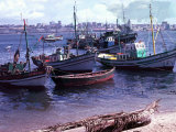 Small Fishing Community on Edge of a Bay at Luanda, the Capitol of Angola Photographic Print
