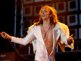 Justin Hawkins Lead Singer of the Darkness on the Main Stage at T in the Park Fotografie-Druck