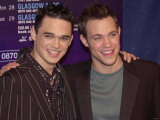Will Young and Gareth Gates, Covent Garden London, Pop Idol Open Air Concert, April 2002 Photographic Print