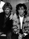 Andrew Ridgeley and George Michael of Wham, 1985 Reproduction photographique