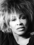 Singer Tina Turner on Tour Photographed in Her Hotel Room in Paris Photographic Print
