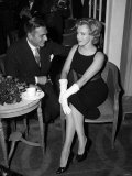 Marilyn Monroe with Laurence Olivier, July 1956 Photographic Print