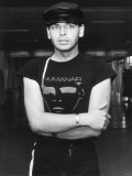 Gary Numan Pop Star, Leather Hat Numanair, September 1981 Photographic Print