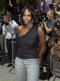British Singer Shaznay from the Group All Saints Arrives at the Ivor Novello Awards Photographic Print