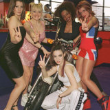 Total Spice, a Spice Girls Tribute Band, at Preview of Spice Girls Film in Belfast, Dec 1997 Fotografie-Druck