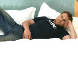 Daniel Bedingfield in His Room at the Grosvenor House Hotel Photographic Print