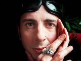 Singer Marc Almond Hands at Face Goggles Sunglasses on Forehead, April 1999 Valokuvavedos