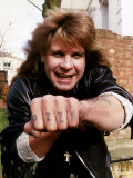 Ozzy Osbourne of Black Sabbath Fotografisk tryk